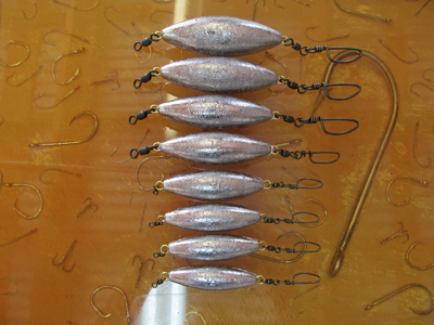 Pro-Rigged Inline Trolling Sinkers - Grateful Lead